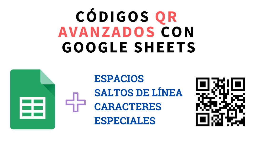 QR en Google Sheets: espacios y saltos de línea