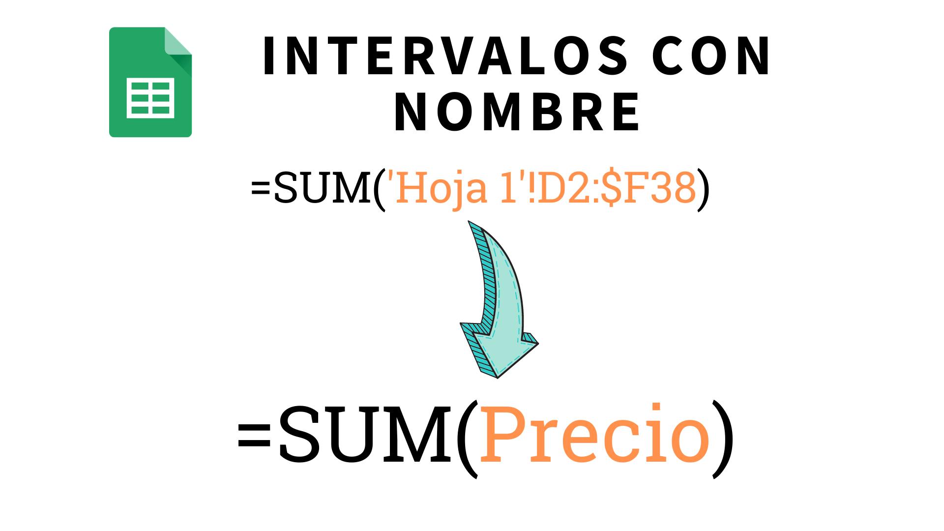 Usar intervalos con nombre en Google Sheets (Hojas de Cálculo de Google)