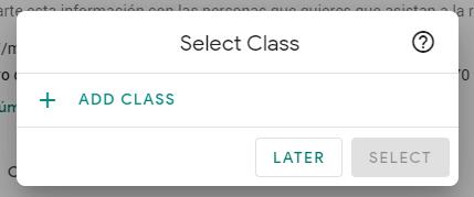 Interfaz para agregar una clase