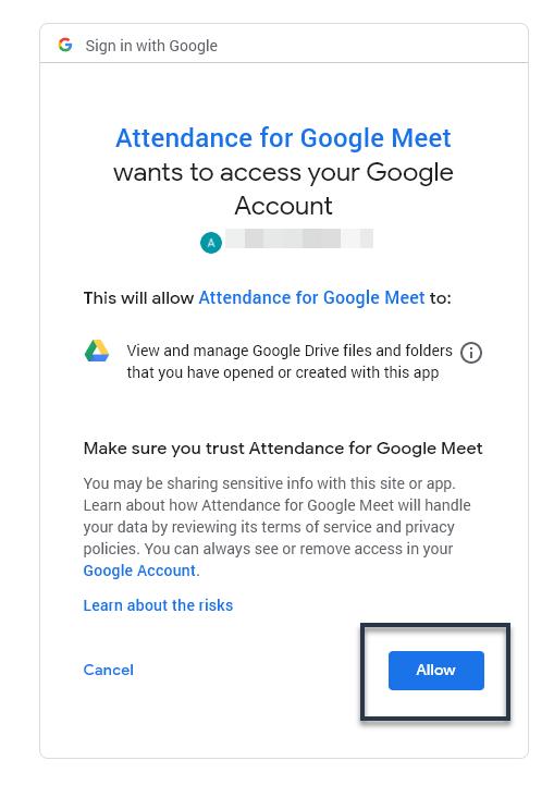 Aceptamos los permisos para que la extensión escriba en nuestro Google Drive