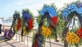 Memorial service for the victims Lampedusa in the Italian City of Agrigento