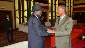 """South Sudan deeply thanked Eritrea for its support to the people and Government of South Sudan during the current crisis in the country. Yet, Eritrea's avowed enemies are busy disseminating preposterous lies accusing Eritrea for supporting""""rebels"""" in a proxy war in the region."""