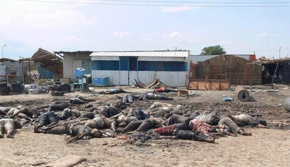 Rebels loyal to renegade VP Reik Machar slaughtered hundreds of civilians when they seized the South Sudan oil hub of Bentiu, hunting down men, women and children who had sought refuge in a hospital, mosque and Catholic church: United Nations