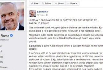 """Rama, një """"çarçaf sqarues"""" për opinionin: e vërteta e votim-numërimit elektronik të opozitës"""
