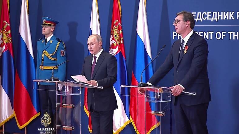 Putin në Beograd  Moska  e shqetësuar për taksën e Kosovës ndaj Serbisë