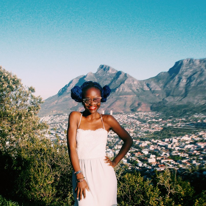 Teshie Ogallo in Cape Town White Dress Project
