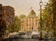 """State Capitol, Raleigh (12""""x16"""" WC)"""