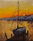 "Beaufort Sunset (20""x16"")- Honorable mention Jerry's"