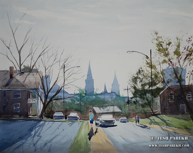 Raleigh Fine Artist – plein air painting for Local Color Gallery