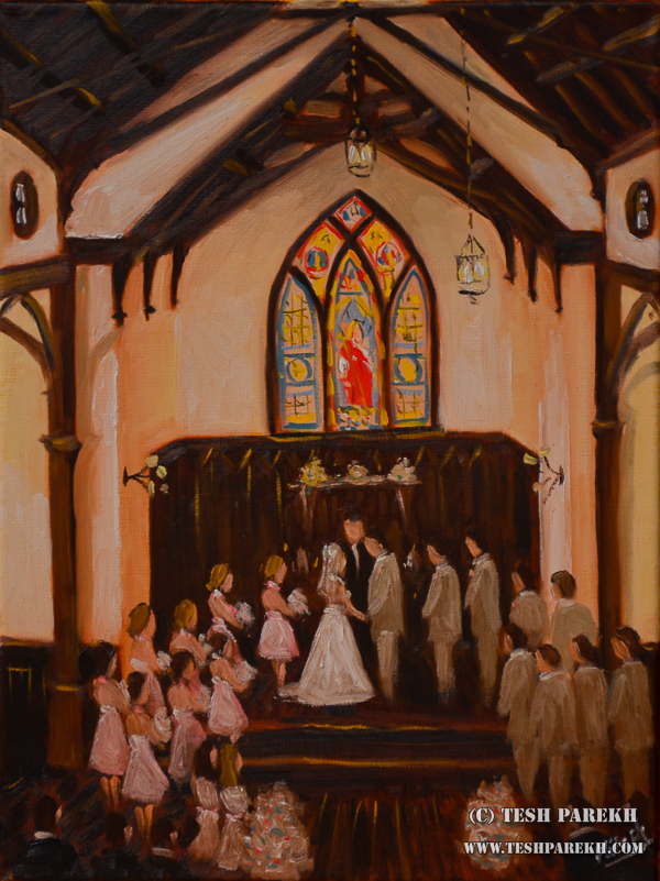 All Saints Chapel Raleigh – Live Wedding Painting { Ashley + Chris }