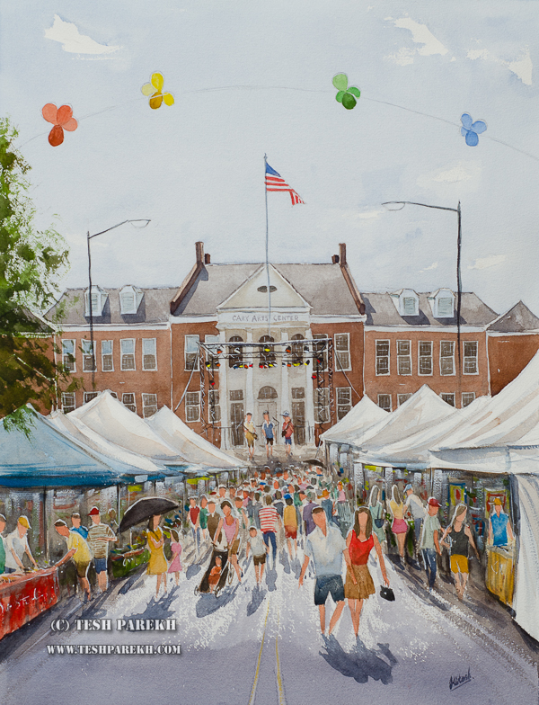 Cary Lazy Daze 2014 Featured Painting Commission