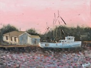 Beaufort evening. Oil painting on panel.