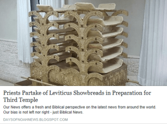 Priests Partake of Leviticus Showbreads in Preparation for Third Temple - Biblical News Reporting