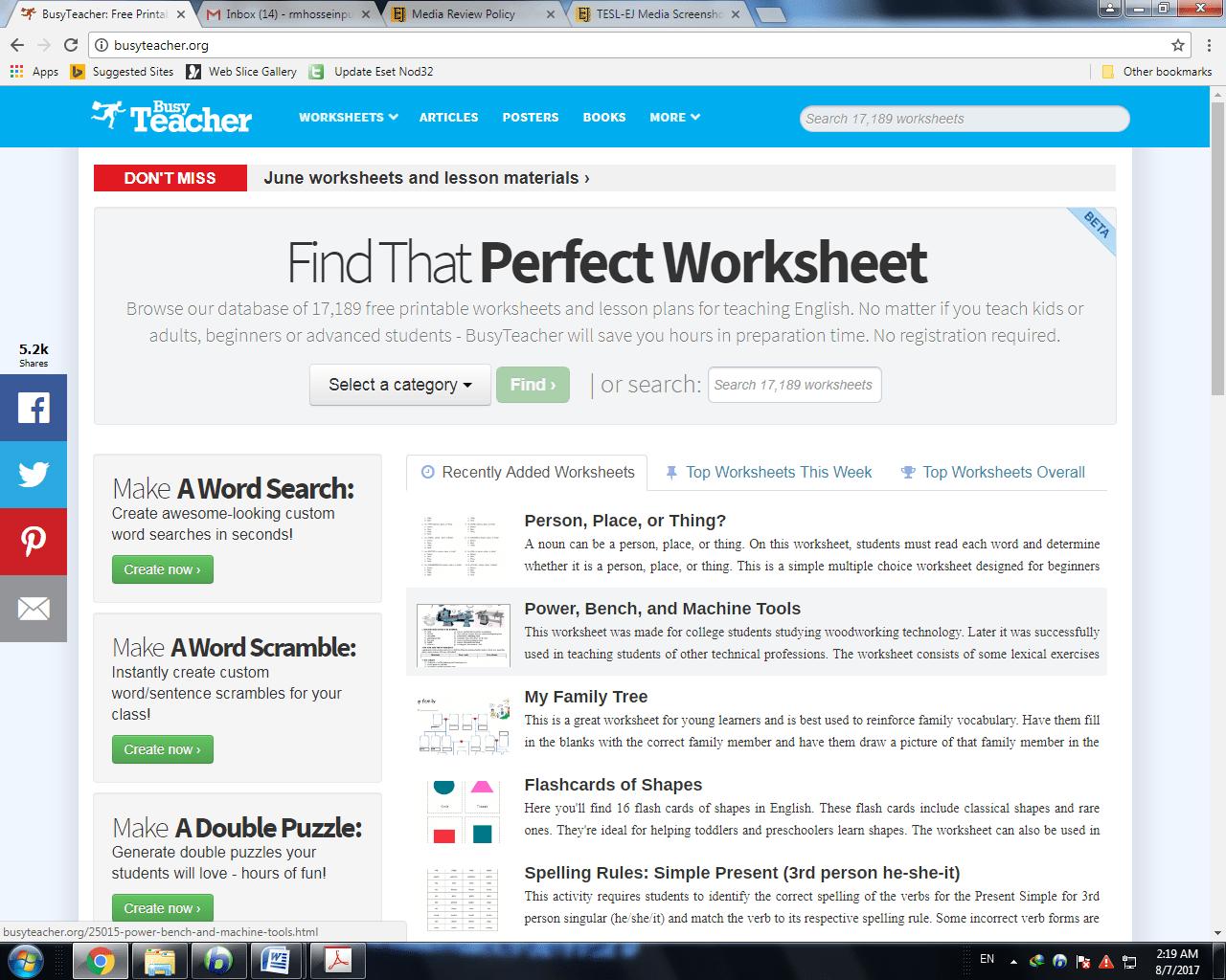 Worksheets Busy Teacher