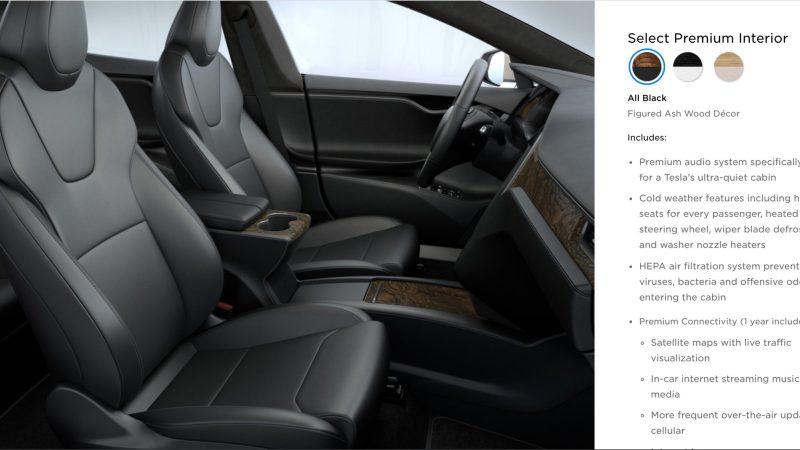 Tesla vylepšila přední sedadla u Modelu S
