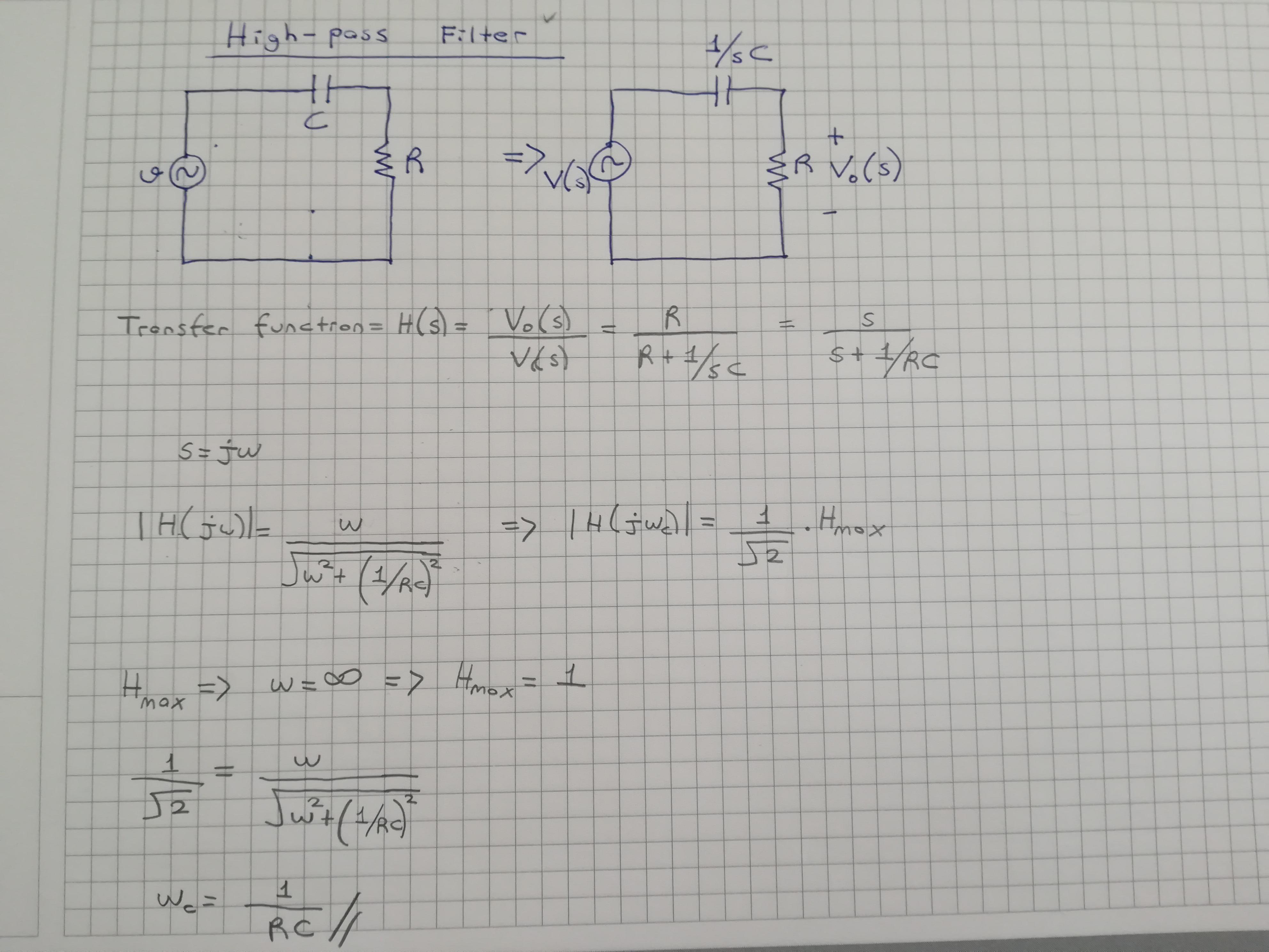 Low Pass Filter Alcak Geciren Filtre High Pass Filter