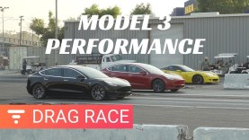 Tesla Performance Model 3 Drag Race vs Long Range