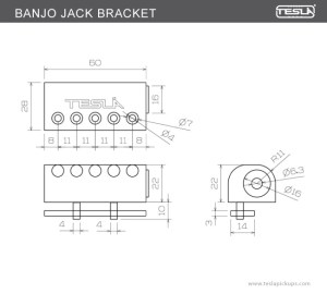 BANJO JACK BRACKET > BANJO PRODUCTS | Tesla Pickups