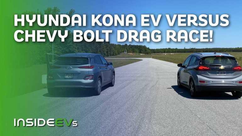Часы 2020 Chevy Bolt EV Race 2020 Hyundai Kona Electric
