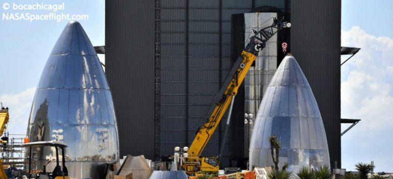 Первый тройной хищный космический корабль SpaceX почти закончен
