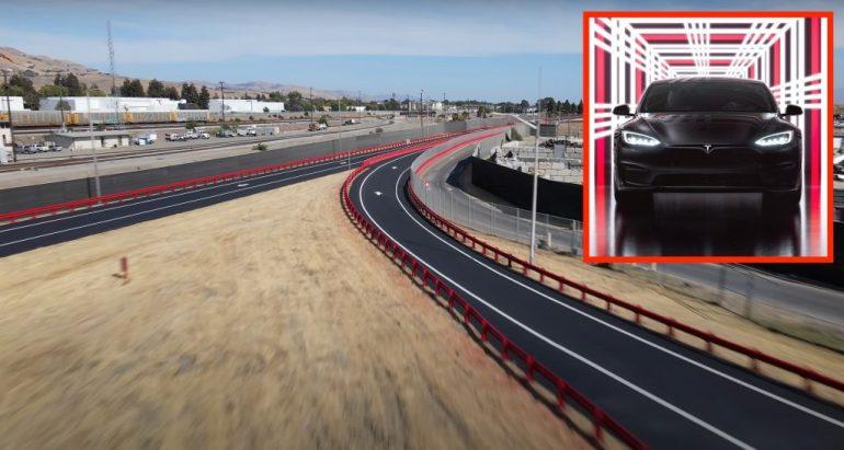 Испытательный трек Tesla Fremont Factory переделан как раз к мероприятию по доставке Model S Plaid