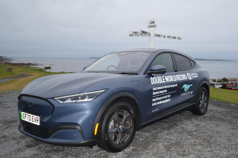 Ford Mustang Mach-E установил мировой рекорд Гиннеса по эффективности электромобилей