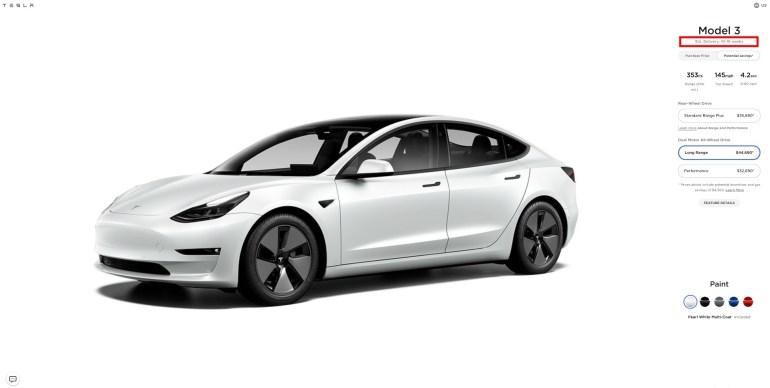 Поставки Tesla Model 3 в США приостановлены из-за высокого спроса