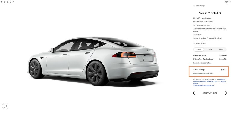 Tesla незаметно подняла депозит за автомобиль со 100 до 250 долларов во время мероприятия AI Day