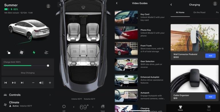 Приложение Tesla обновляется с новым пользовательским интерфейсом, новыми функциями и прямым доступом к магазину.