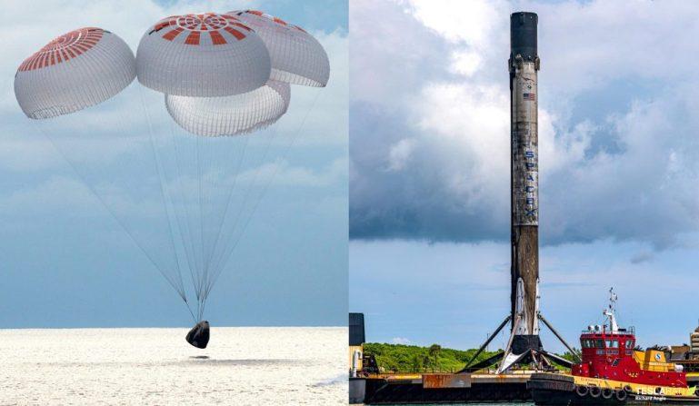 SpaceX Inspiration4 Dragon и ракета-носитель Falcon 9 возвращаются в порт после безупречной миссии