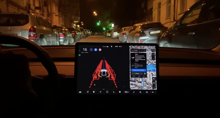 Взломанная украинская демоверсия Tesla FSD Beta подтверждает видение Илона Маска об автопилоте