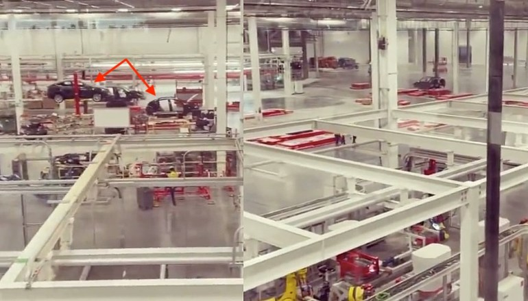 Пробное производство Tesla Model Y засняли в редком видео об интерьере Giga Texas