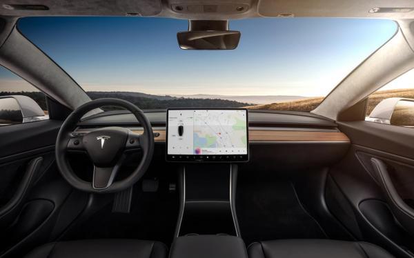 Tesla Front Interior