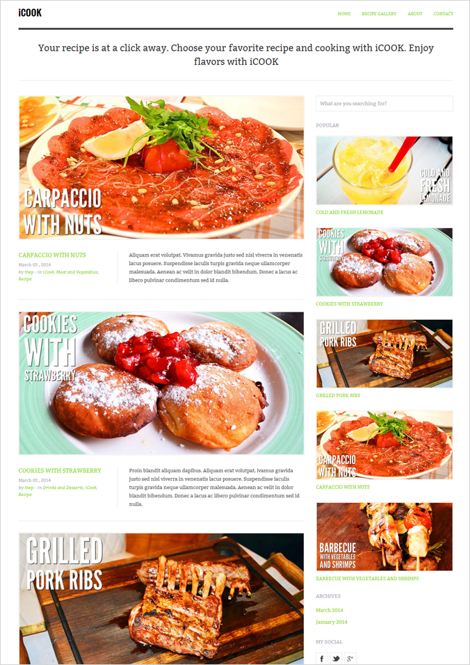 iCook WP blog