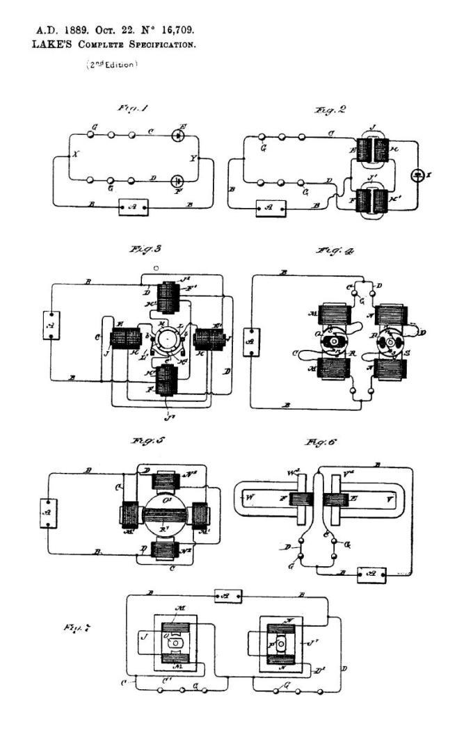 Nikola Tesla British Patent 16,709 - Mejoras relacionadas con la conversión de corrientes eléctricas alternas en directas - Imagen 1