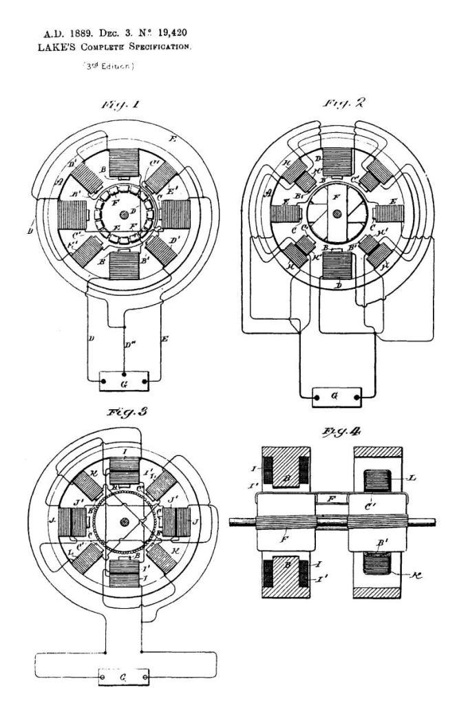 Patente británica 19.420 de Nikola Tesla - Mejoras en motores electromagnéticos de corriente alterna - Imagen 1