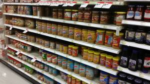 PEANUT BUTTER!!  A WHOLE AISLE!!!