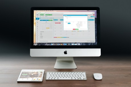 Image of computer screen with apps open