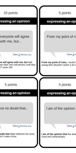 Academic Discussion Cards
