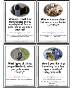 Question Cards: Travel