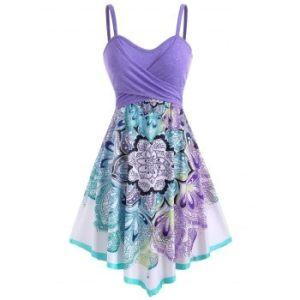 Bohemian Flower Crossover Empire Waist Dress