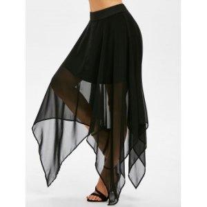 Layered Handkerchief Chiffon Skirt