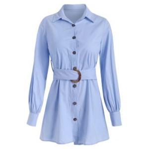 Longline Shirt with O-ring Belt