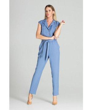 Figl Blue Sleeveless Jumpsuit