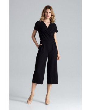 Figl Black Short Sleeve Jumpsuit