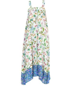 Camicettasnob Le Bisbetiche By White Floral Print Full Length Dress