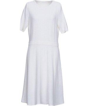 Hugo Boss White Knit Short Sleeve Dress