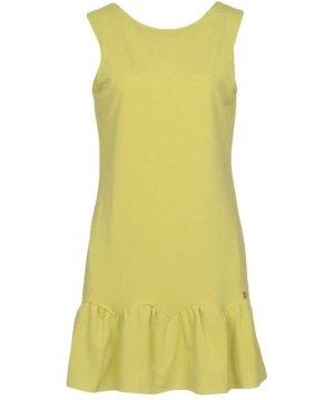 Cuple Acid Green Jersey Sleeveless Dress