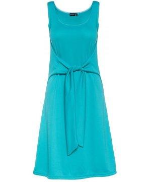 Conquista Sleeveless A Line Dress with Tie Waist