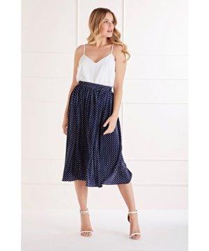 Mela London Polka Dot Midi Skirt